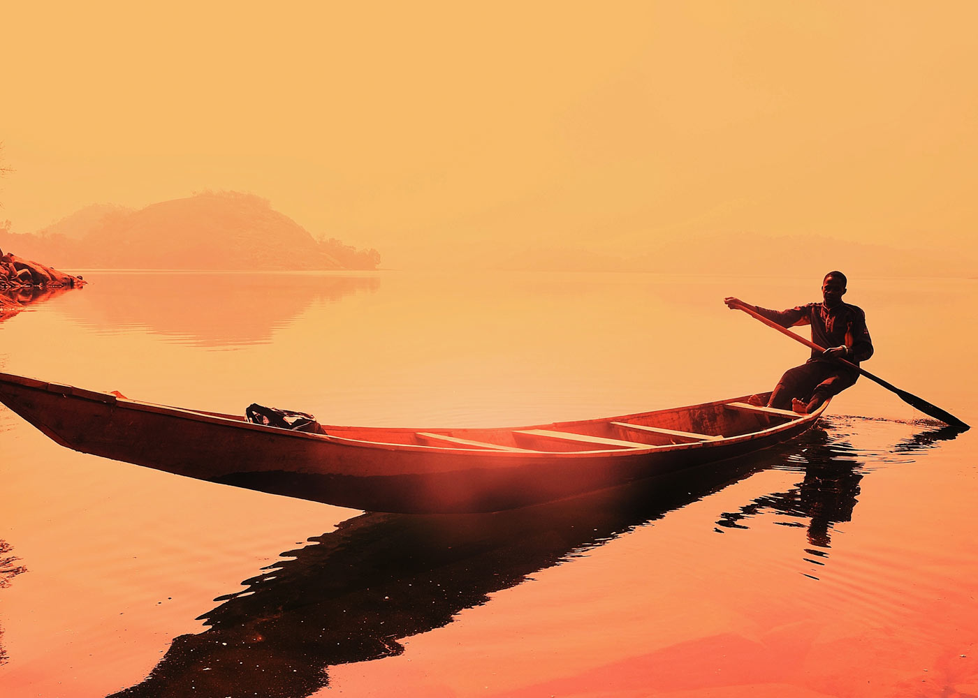 sunset canoe